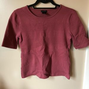 Ann Taylor thick knit patterned tee